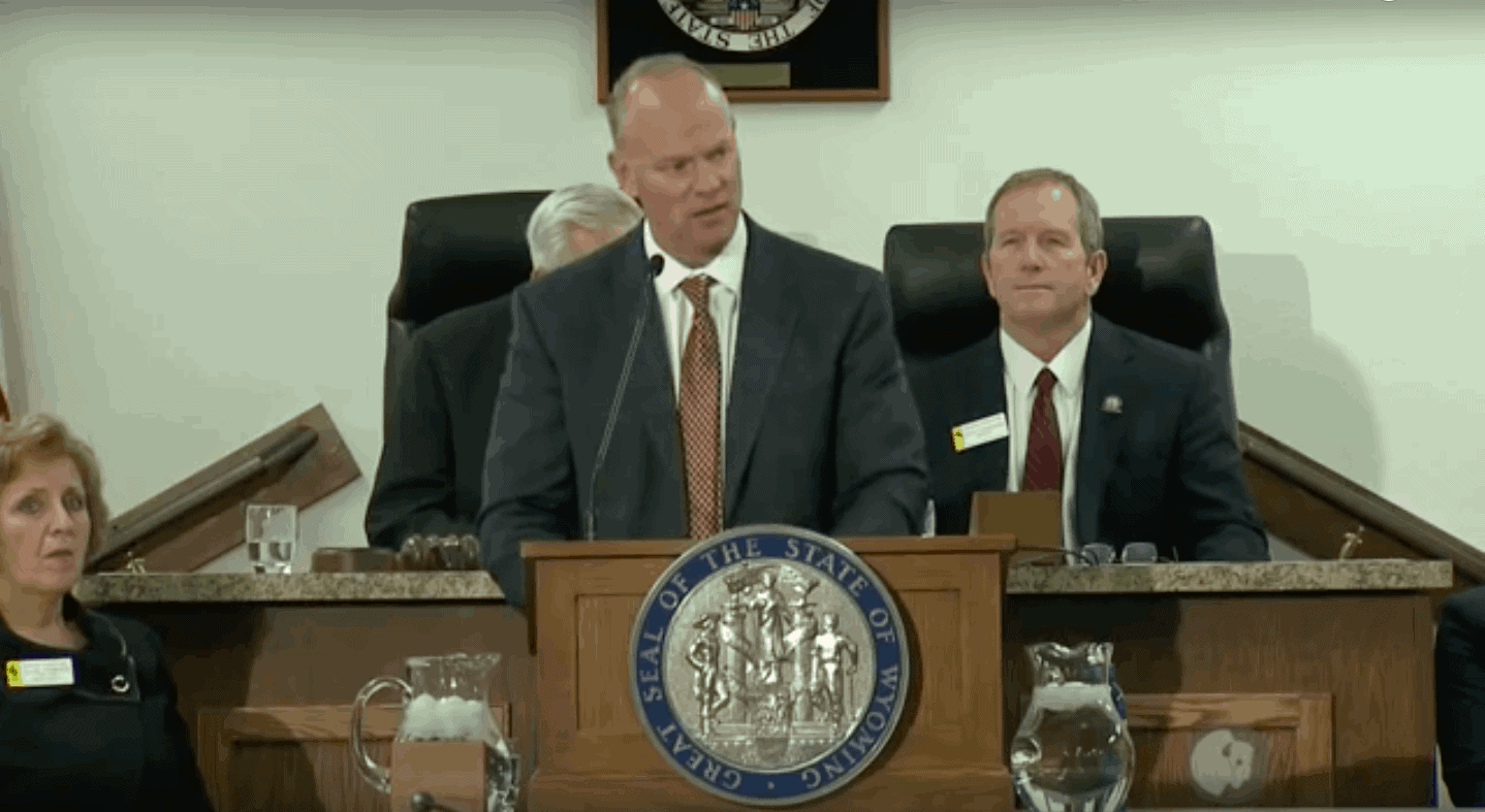 """Gov. Matt Mead gives his seventh """"State of the State"""" address"""