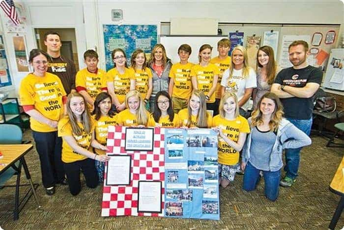 Junior high students at the University of Wyoming Lab School in 2016. The 100-year-old Lab School would lose its accreditation if HB-136 passes.