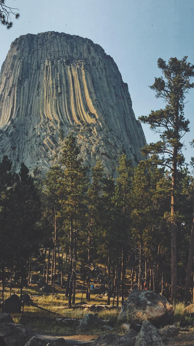 Devil's Tower, in northeast Wyoming