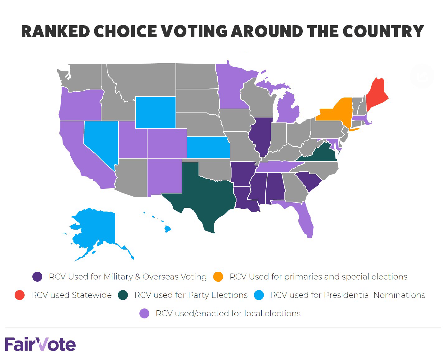 Ranked choice voting around the country