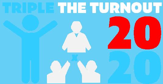 Triple the vote logo